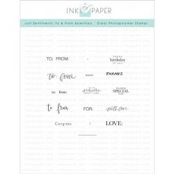 Ink To Paper Just Sentiments: To & From Essentials Stamp Set