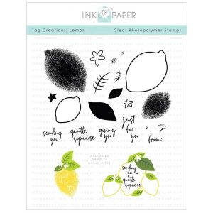 Ink To Paper Tag Creations: Lemon Stamp Set