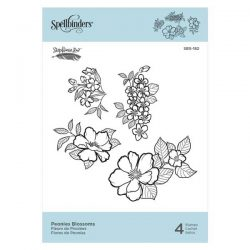 Spellbinders Peonies Blossoms Stamp Set
