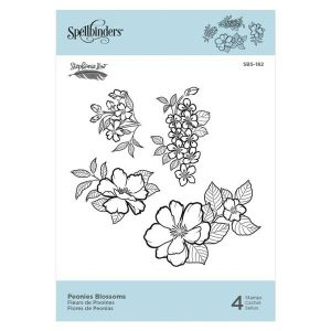 Spellbinders Peonies Blossoms Stamp Set class=