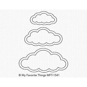 My Favorite Things Cute Cloud Outlines Die-namics