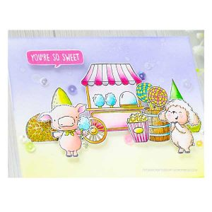 Purple Onion Designs Cotton Candy Cart Stamp class=