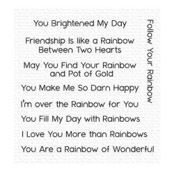 My Favorite Things Rainbow Greetings Stamp Set