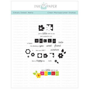 Ink To Paper Simply Sweet: Hello Stamp Set