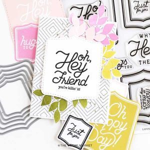 The Stamp Market Lovely Labels Stitched Nested Dies class=