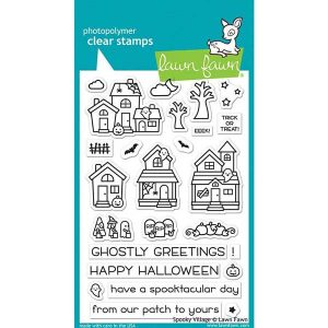 Lawn Fawn Spooky Village Stamp Set