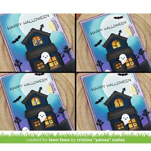 Lawn Fawn Tiny Halloween Stamp Set class=
