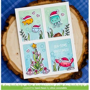 Lawn Fawn Christmas Fishes Stamp Set class=