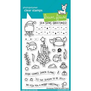 Lawn Fawn Christmas Fishes Stamp Set