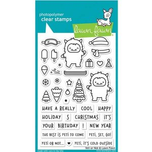 Lawn Fawn Yeti or Not Stamp Set
