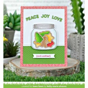 Lawn Fawn How You Bean? Christmas Cookie Add-On Stamp Set class=