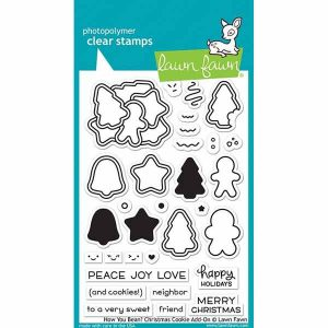 Lawn Fawn How You Bean? Christmas Cookie Add-On Stamp Set