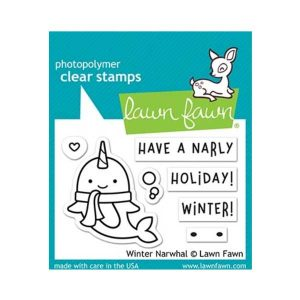 Lawn Fawn Winter Narwhal Stamp Set