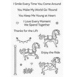 My Favorite Things Carousel Horses Stamp Set