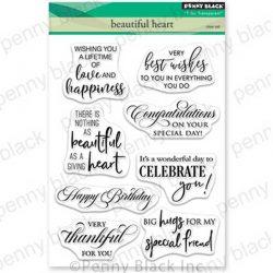 Penny Black Beautiful Heart Stamp Set