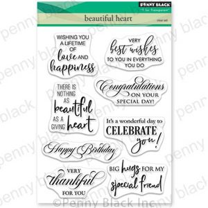 Penny Black Beautiful Heart Stamp Set