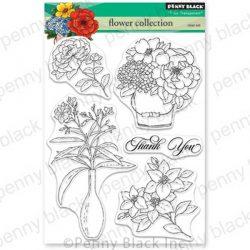 Penny Black Flower Collection Stamp Set
