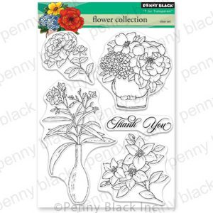 Penny Black Flower Collection Stamp Set