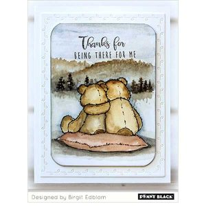 Penny Black Bear Cuddle Stamp Set class=