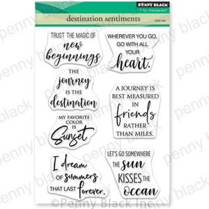 Penny Black Destination Sentiments