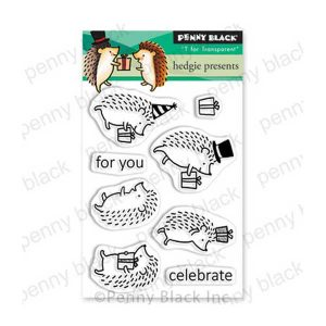Penny Black Hedgie Presents Stamp Set