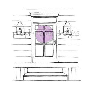 Purple Onion Designs Front Door Stamp