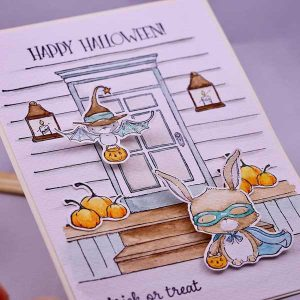 Purple Onion Designs Gathered Pumpkins Stamp class=