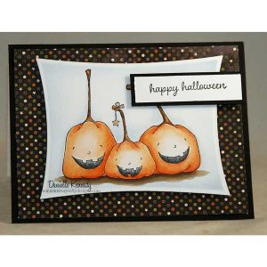 Purple Onion Designs Happy Pumpkins Stamp class=