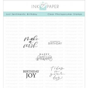 Ink To Paper Just Sentiments: Birthday Mini Stamp Set class=