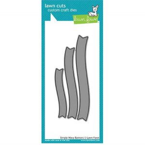 Lawn Fawn Simple Wavy Banners Lawn Cuts