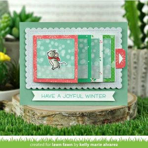 Lawn Fawn Mice on Ice Stamp Set class=