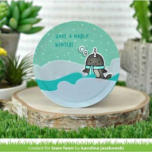 Lawn Fawn Winter Narwhal Stamp Set class=