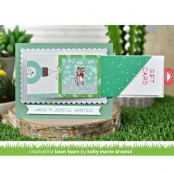 Lawn Fawn Diagonal Gift Card Pocket Lawn Cuts