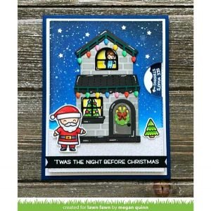 Lawn Fawn Build-A-House Christmas Add-on Lawn Cuts class=