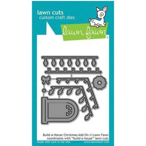 Lawn Fawn Build-A-House Christmas Add-on Lawn Cuts