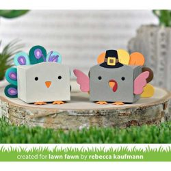 Lawn Fawn Tiny Gift Box Peacock and Turkey Add-On Lawn Cuts