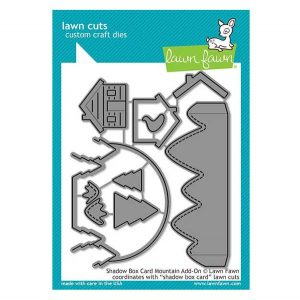 Lawn Fawn Shadow Box Card Mountain Add-On Lawn Cuts