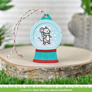 Lawn Fawn Snow Globe Gift Tag Lawn Cuts class=