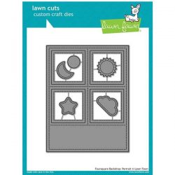 Lawn Fawn Foursquare Backdrop - Portrait Lawn Cuts