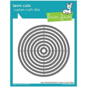 Lawn Fawn Just Stitching Double Circles Lawn Cuts