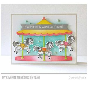My Favorite Things Carousel Horses Stamp Set class=