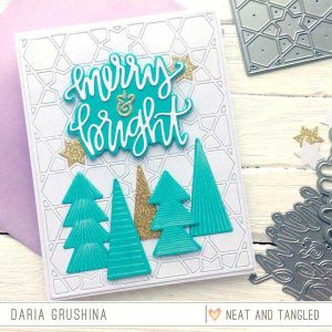 Neat & Tangled Merry and Bright Die Set class=