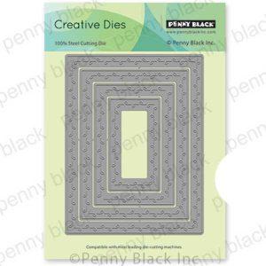 Penny Black Leaf Stitched Frames