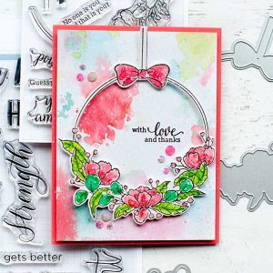 Pinkfresh Studio Hanging Florals Stamp Set class=
