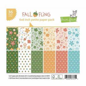 "Lawn Fawn Fall Fling Petite Paper Pack - 6"" x 6"""