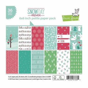 Lawn Fawn Snow Day Remix Petite Paper Pack – 6″ x 6″