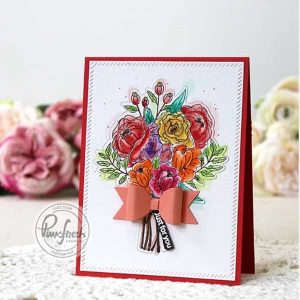 Pinkfresh Studio Blooming Bouquet Die Set class=