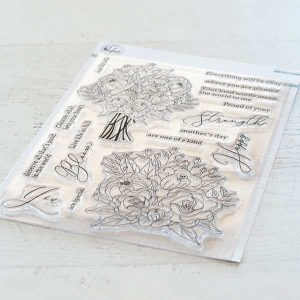 Pinkfresh Studio Blooming Bouquet Stamp Set