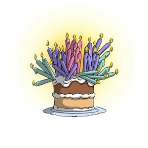 Art Impressions Birthday Cake Stamp