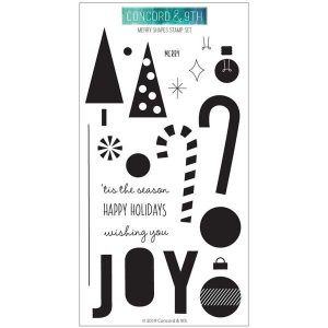Concord & 9th Merry Shapes Stamp Set